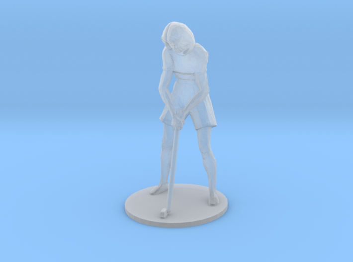 Female Golfer-Putting S-Scale 3d printed