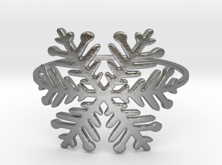 A Snowflake (Size 4-11.25) 3d printed Silver snowflake