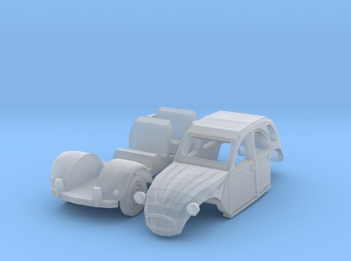 Citroën 2CV (N 1:160) 3d printed