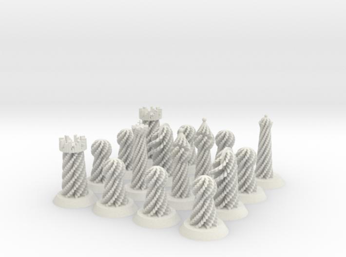 Spiral Chess Set 3d printed