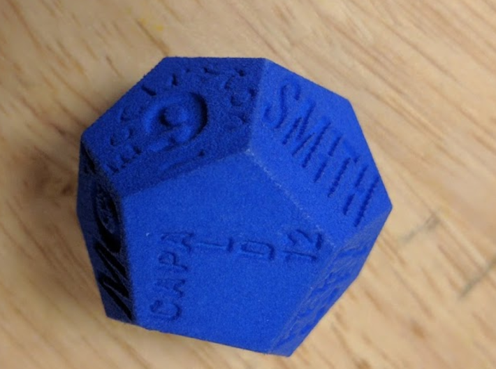 Dodecawhodron 3d printed
