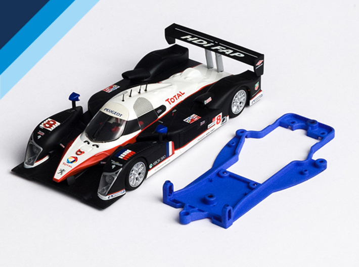 1/32 Avant Slot LMP Chassis for Slot.it pod 3d printed Chassis compatible with Avant Slot Peugeot 908 Hdi FAP body (not included)