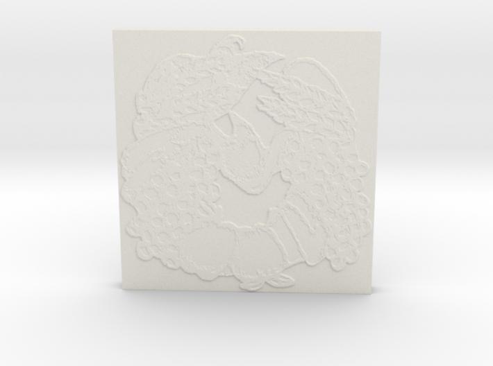 Abundance Horseshoe 1 Tile by Gabrielle 3d printed