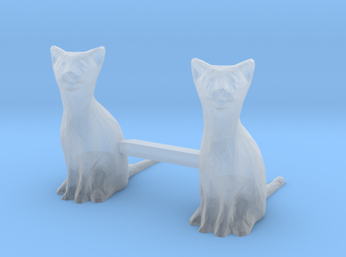 Cats Sitting S-Scale 3d printed