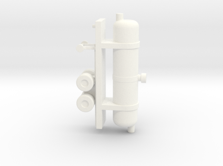 1/110 Scale Oxygen Tank Trailer 3d printed