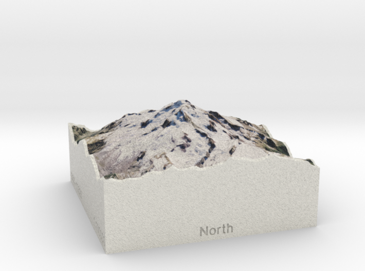 Glacier Peak, Washington, USA, 1:100000 Explorer 3d printed