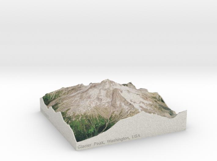Glacier Peak, WA, USA, 1:50000 3d printed