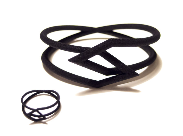 Interlocking Triangles Bracelet 3d printed Bracelet and ring
