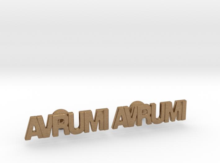 "Hebrew Name Cufflinks - ""Avrumi"" 3d printed"