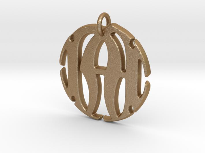 Monogram Initials NA Pendant 3d printed