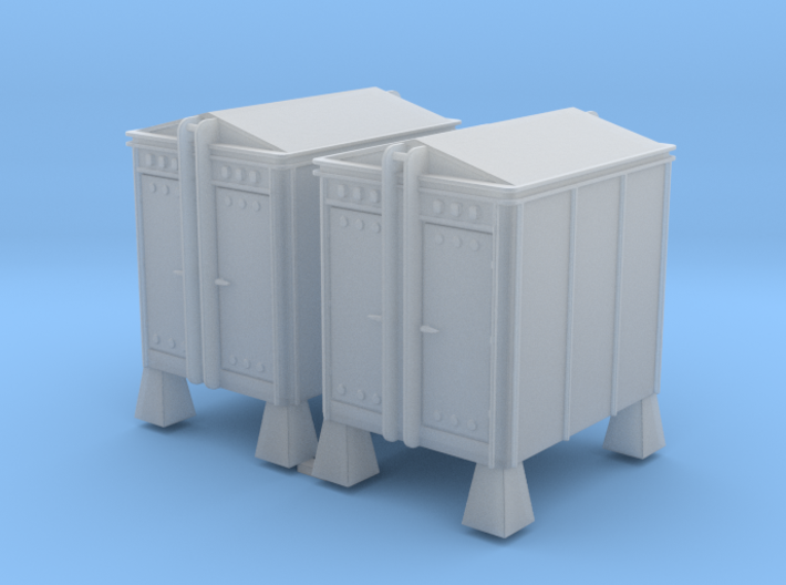 6x8 Union Style HM Instrument House 1-87 HO Scale 3d printed