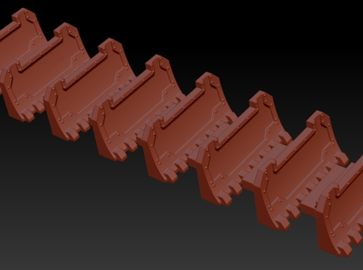 6mm epic scale Rhino Dozerblades (8) 3d printed