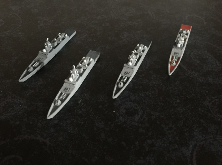 Admiral Gorshkov-class frigate x 4, 1/1800 3d printed Painted Sample