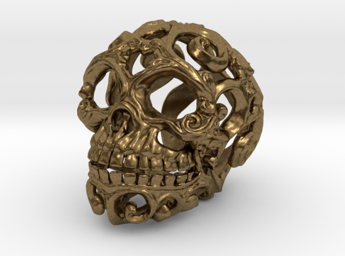 Steampunk Skull filigree 3d printed
