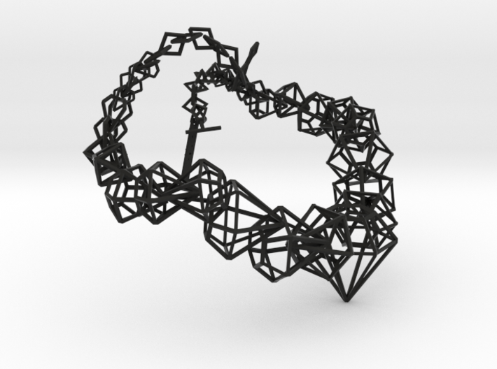 Stereodiamond Necklace 3d printed