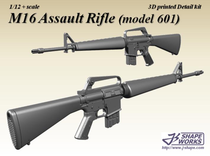 1/12+ M16 Assault rifle (model 601) 3d printed