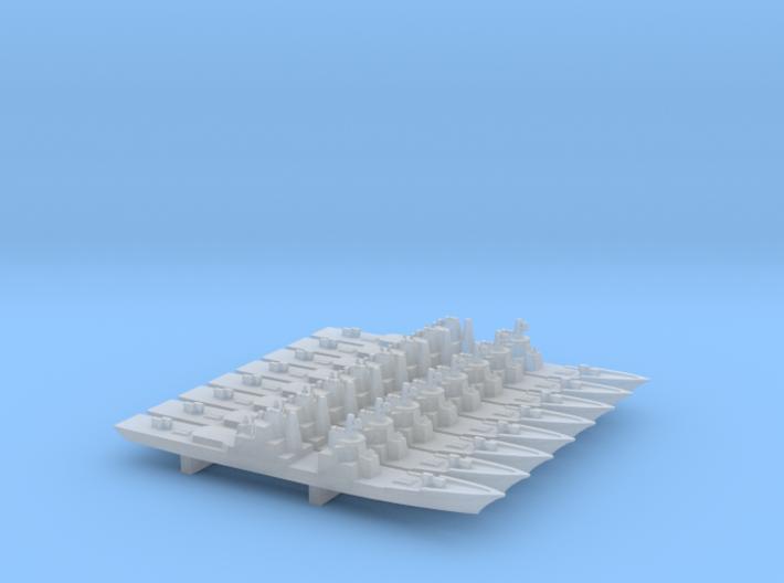 Cruiser Baseline w/ MCLWG x 8, 1/6000 3d printed