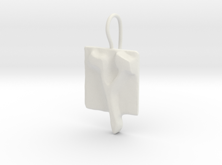 27 Tzadi-sofit Earring 3d printed