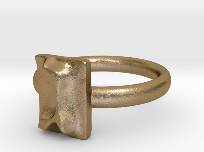 03 Gimel Ring 3d printed