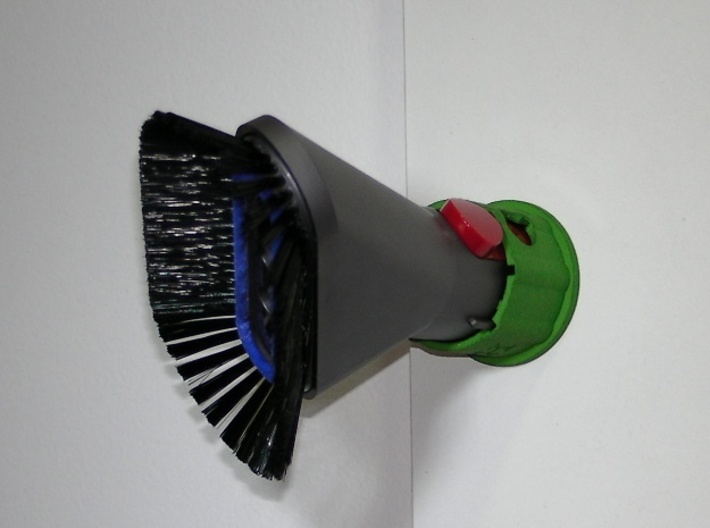 Holder - Dyson V7/V8 x1 Tool - Wall Mount 3d printed Shown 45° to the right