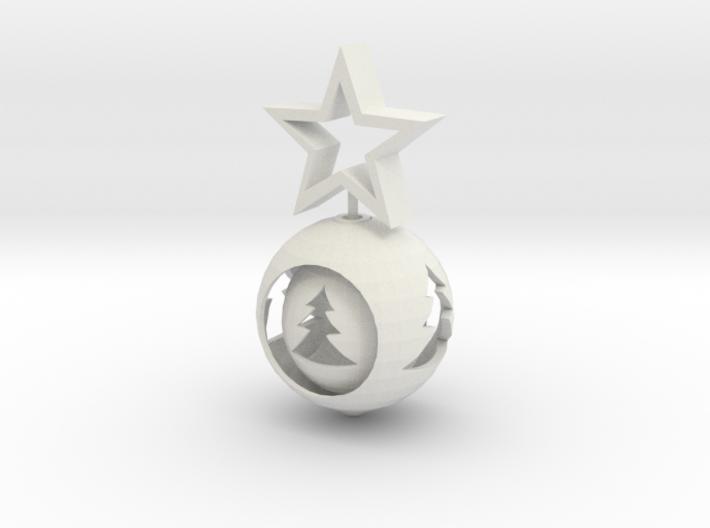 Christmas ball With big Star 3d printed