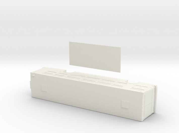 HO scale NABI 40-lfw bus with floor 3d printed