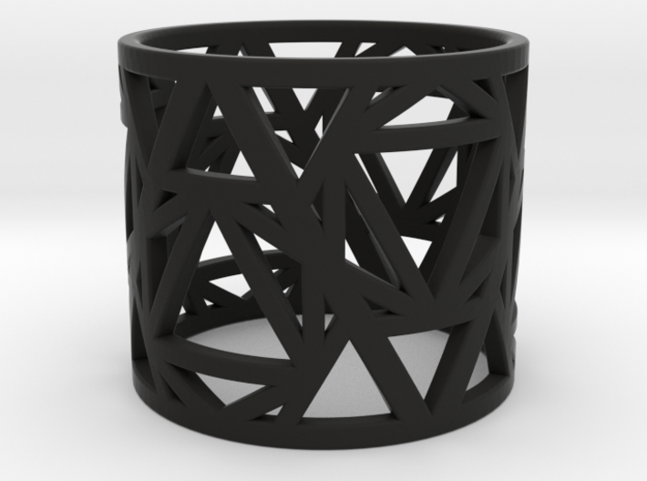 Zero Point Geometry Ring 3d printed
