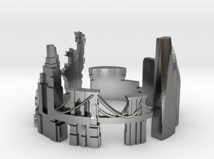 New York Skyline - Cityscape Ring 3d printed