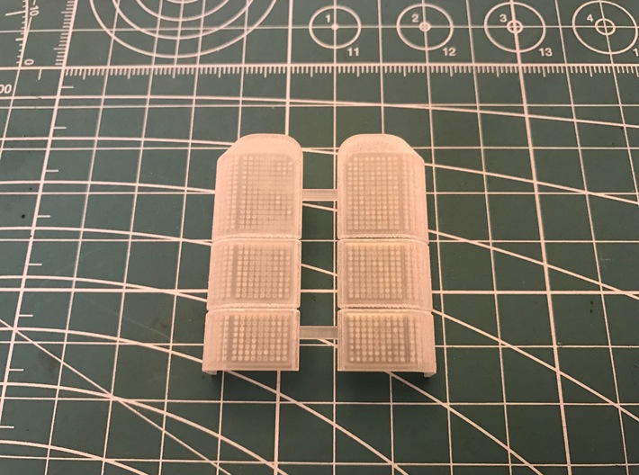 AC10009 SCX10 II XJ CHEROKEE Rear Light Lens 3d printed Parts as they come from Shapeways