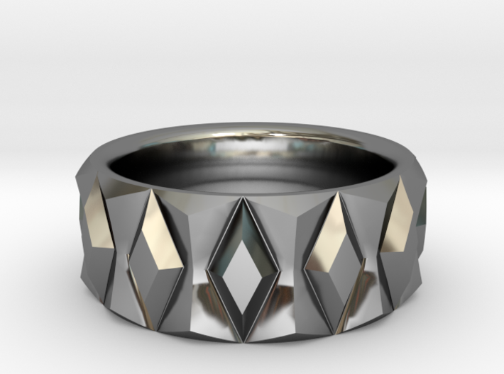 Diamond Ring V2 - Curved 3d printed