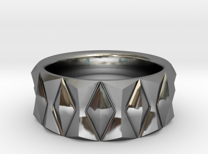 Diamond Ring V3 - Curved 3d printed