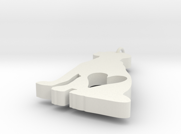 Dog Heart Ornament 3d printed