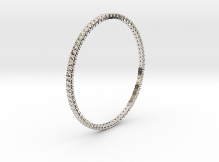 "Bangle simple ""diamonds"" 3d printed"