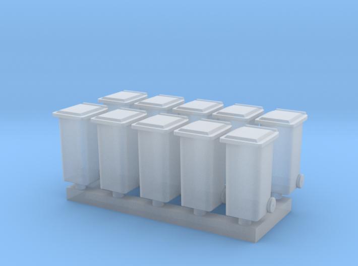 N Scale 10x Household Waste Container (Wheelie Bin 3d printed