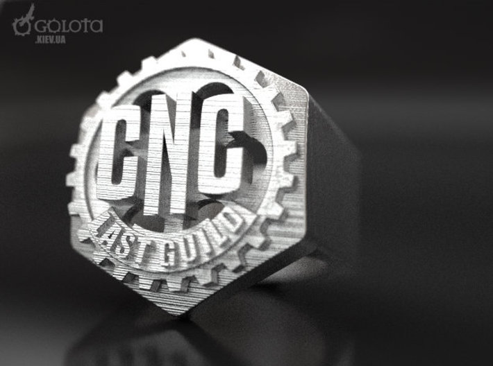 CNC Guild Ring - 9 size 3d printed CNC_guild_ring raw