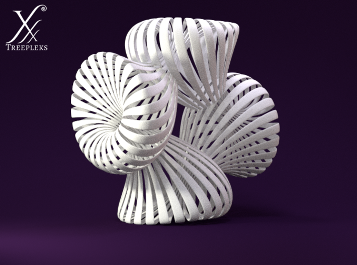 Quadruple Klein Bottle 3d printed Cycle render.