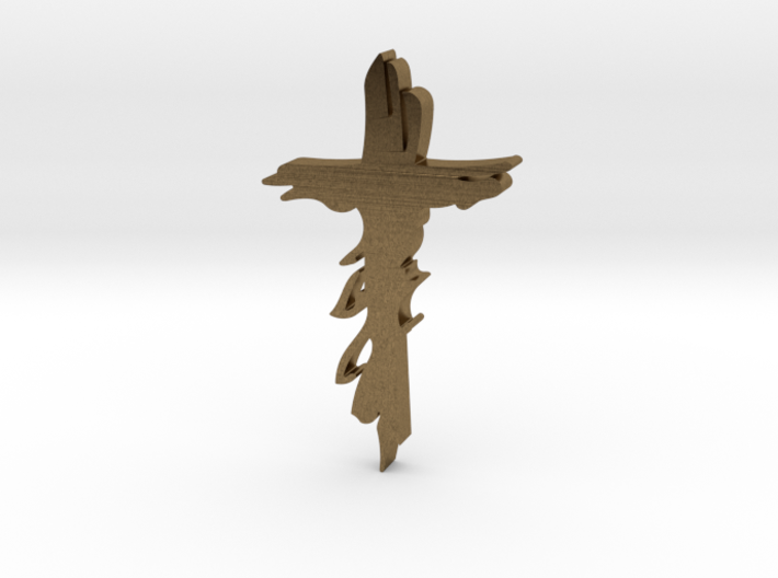 Atonement cross lapel tie tack 3d printed