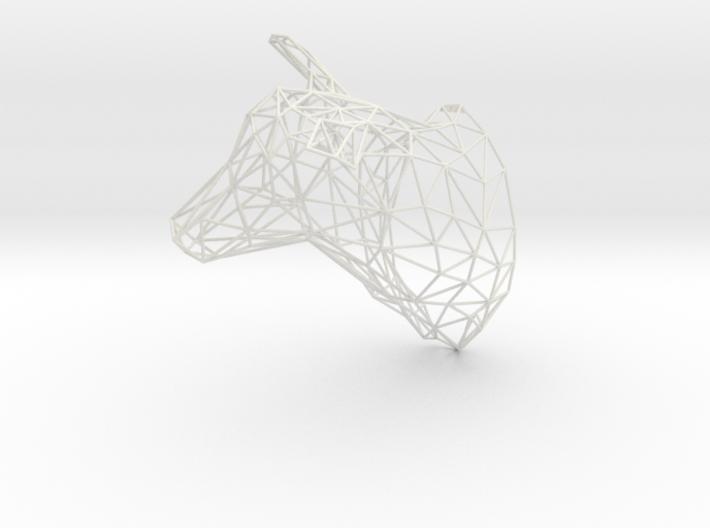 3D Printed Large Doe Trophy Head Facing Right Orig 3d printed