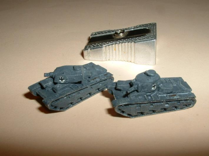 "Heavy Tank ""Neubaufahrzeug"", 2 Variants 1/285 6mm 3d printed"