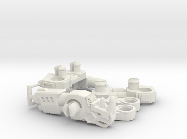 RhinoBlaster Transforming Weaponoid Kit (5mm) 3d printed