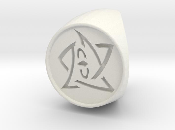Elder Sign Ring Size 7.5 3d printed