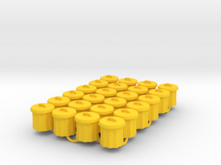 Power Grid Garbage Pails - Set of 24 3d printed