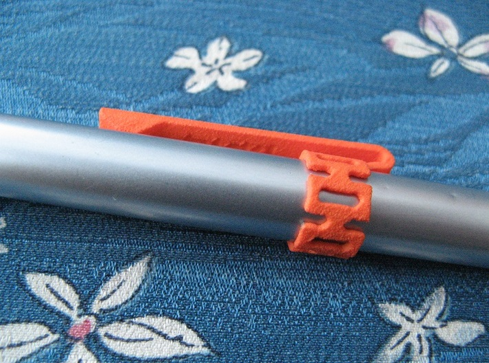 "Pen Clip: for 12.7mm (1/2"") Diameter Body 3d printed (pen not included)"