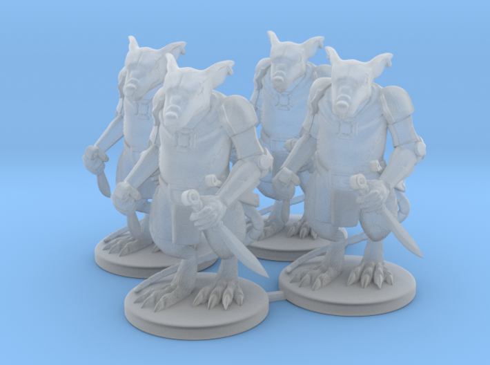 Elite Rat Warriors x4  3d printed