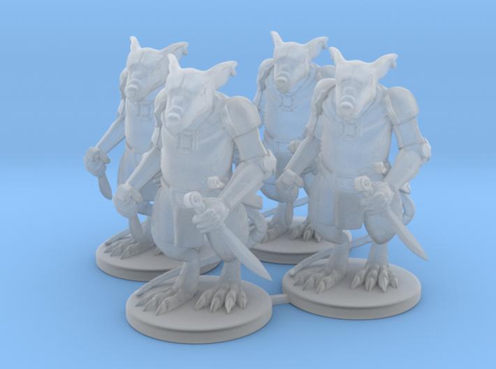 Elite Rat Warriors x4  3d printed