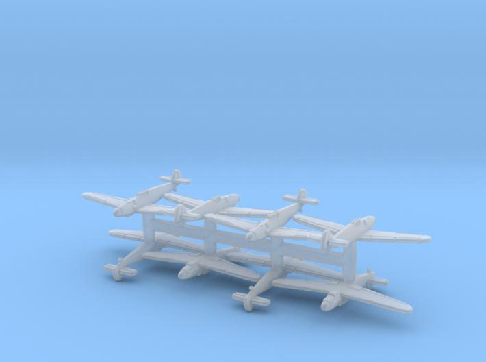 1/700 Bf 109G x8 (FUD) 3d printed