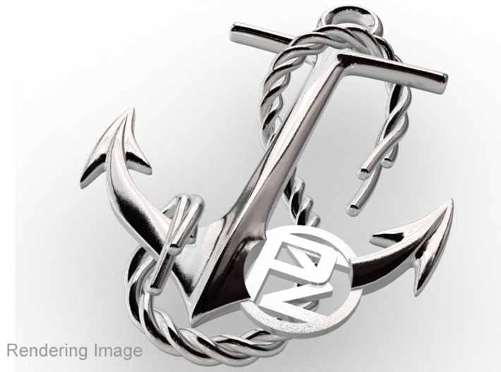 Anchor With Logo 3d printed