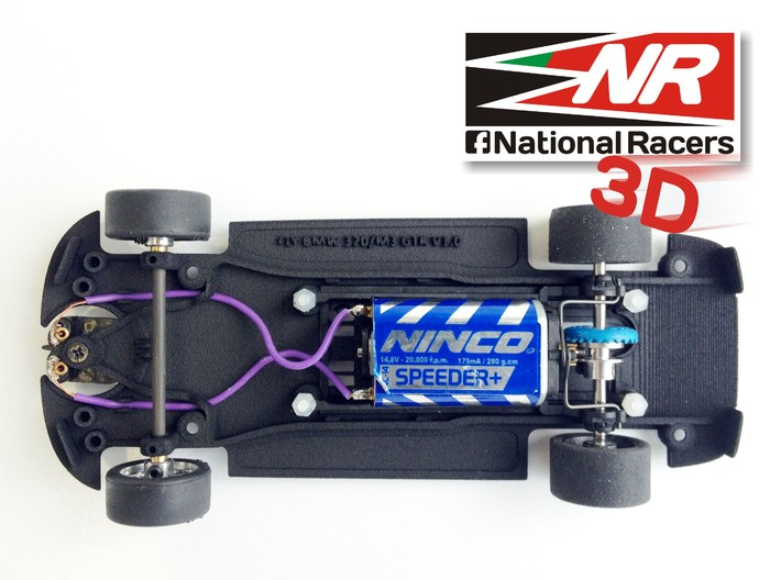 3D chassis for Fly 320i/M3 GTR (Inline​) 3d printed