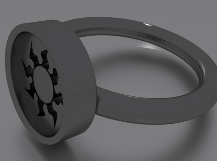 White Ring10 3d printed