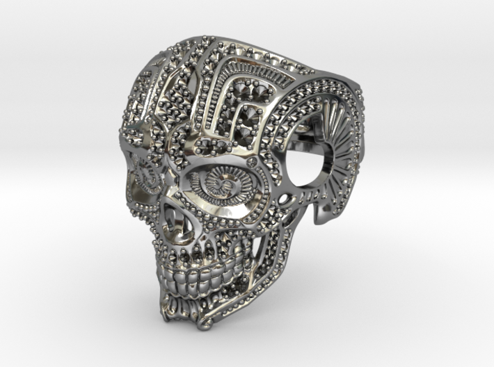 Skull with settings 3d printed